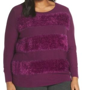 Sejour Long Sleeve Sweater Top Purple Size OX